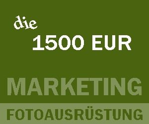 1500 EUR, Marketing, Fotoausrüstung