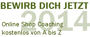 Online Shop Coaching 2014