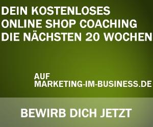 online Shop Coaching 2014