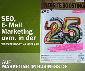 Website Boosting Heft 25