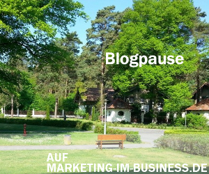 Blogpause, Reha